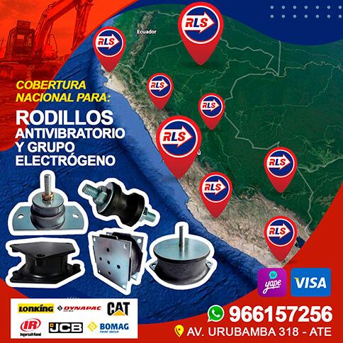 RODILLO ANTIVIBRATORIO Y GRUPO ELECTRÓGENO Cobertura Nacional